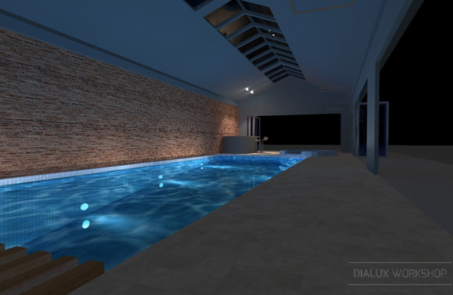Dialux workshop sandhu private swimming pool - Swimming pool lighting requirements ...